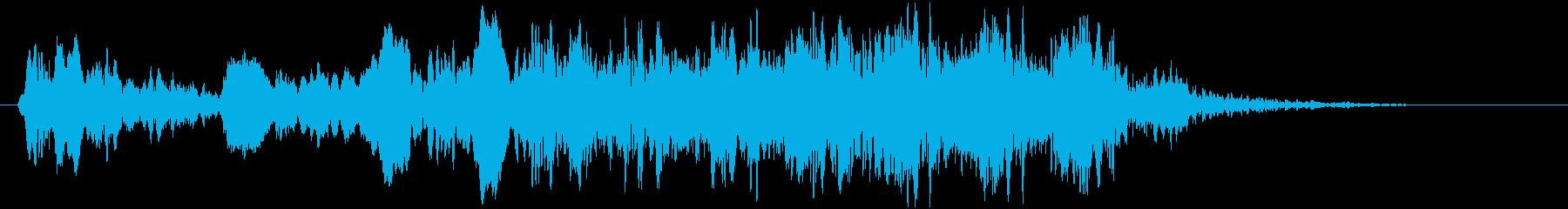 トンビ(トビ、鳶)ヒッヒョロロロロの再生済みの波形