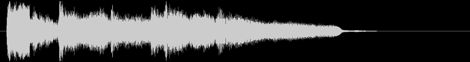 アンニュイお洒落なボサノバ系サウンドロゴの未再生の波形