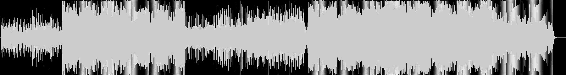 ピアノから始まる叙情的な4つ打ちEDMの未再生の波形
