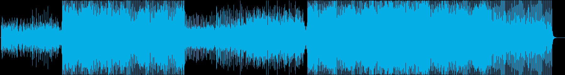 ピアノから始まる叙情的な4つ打ちEDMの再生済みの波形