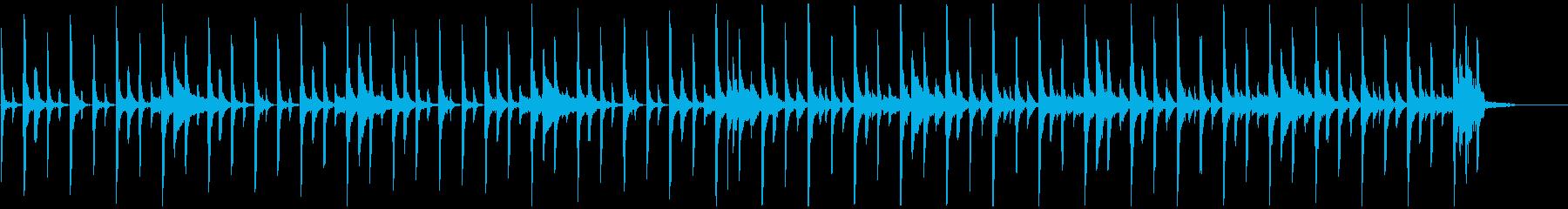 【リズム楽器のみ】元気なクラップの再生済みの波形