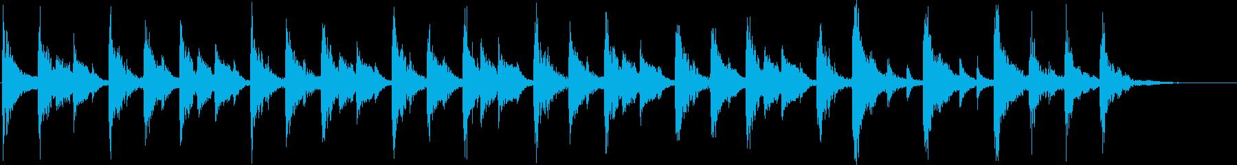 軽快なリズムのコミカルなジングルの再生済みの波形