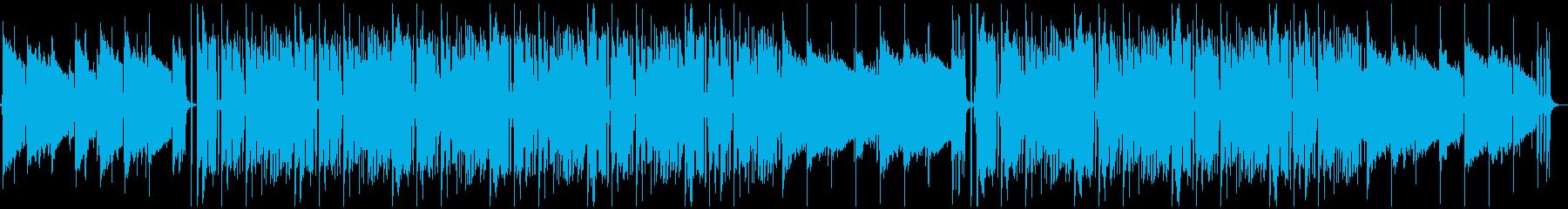 シックな映像、番組、CM/ゆっくりテンポの再生済みの波形