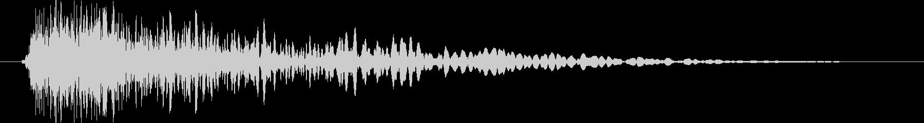 金属 衝撃音の未再生の波形
