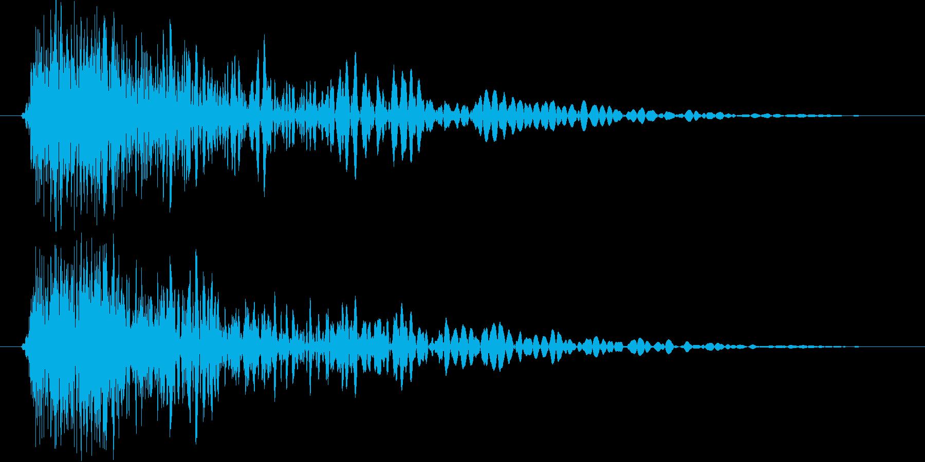 金属 衝撃音の再生済みの波形
