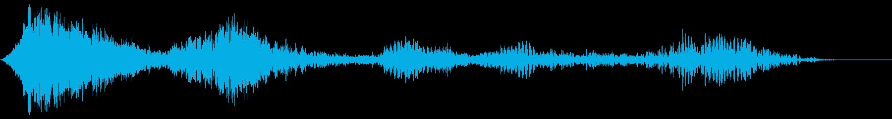 乱流旋回アウェイウーシュ2の再生済みの波形