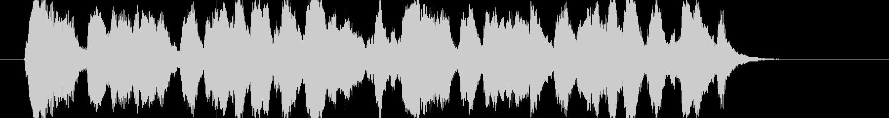 クラリネットの楽しげなジングルの未再生の波形