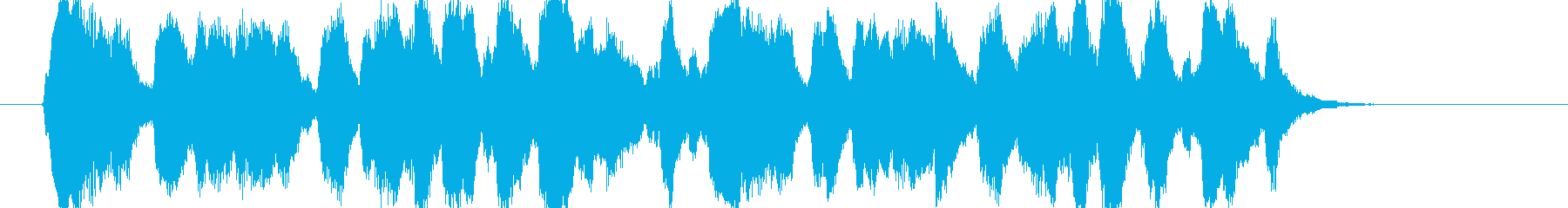 クラリネットの楽しげなジングルの再生済みの波形