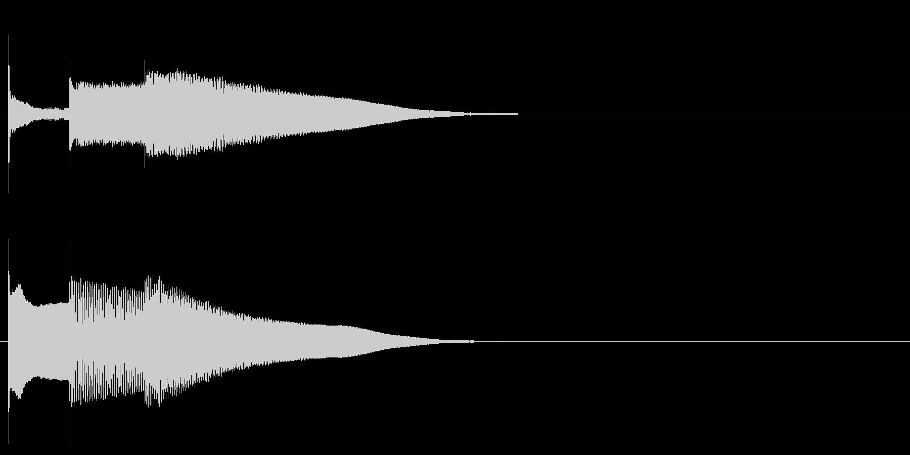 グロッケン系 決定音07(中)の未再生の波形