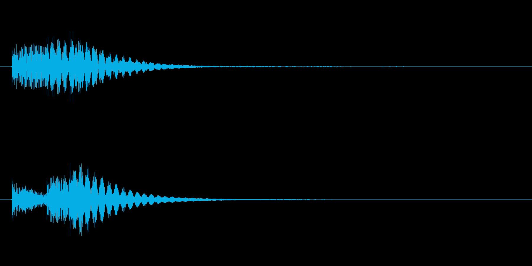 決定ボタンクリック時などの決定音。の再生済みの波形