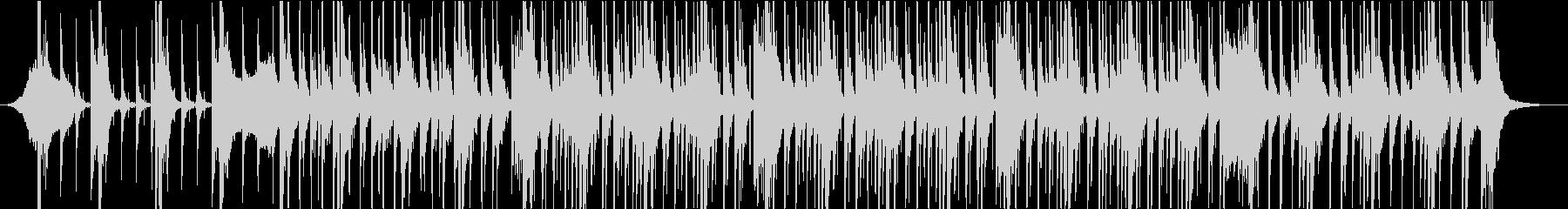迫力あるパーカッションBGMの未再生の波形