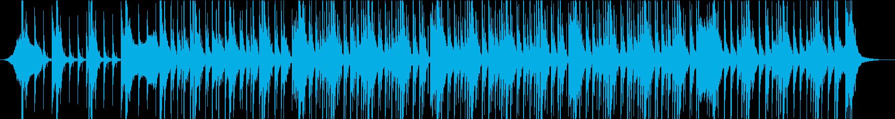 迫力あるパーカッションBGMの再生済みの波形