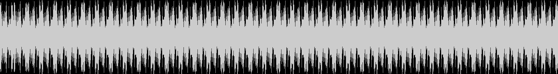 飄々とした変な生き物のマリンバループの未再生の波形