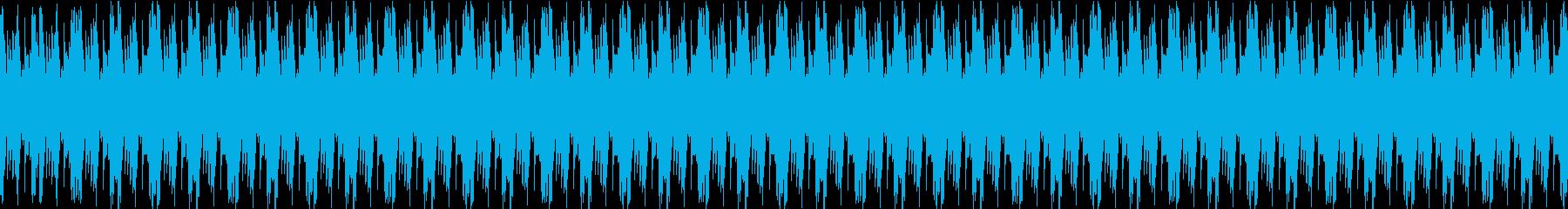 飄々とした変な生き物のマリンバループの再生済みの波形