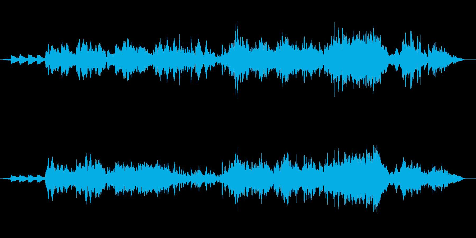 アイスランド民謡を生ヴァイオリンでの再生済みの波形