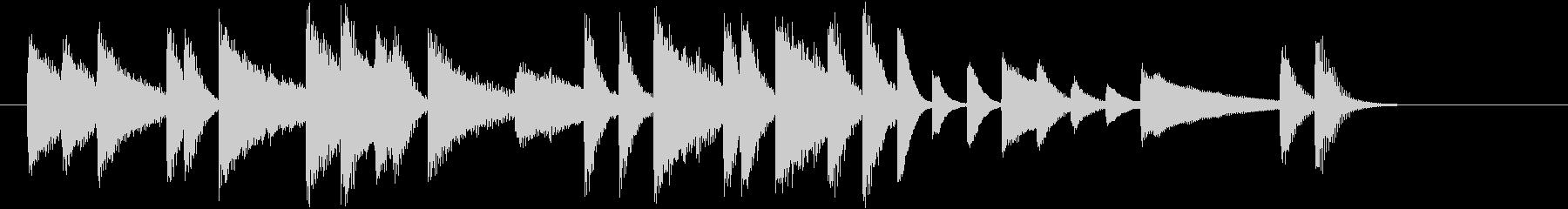 ジングルベルモチーフのピアノジングルCの未再生の波形