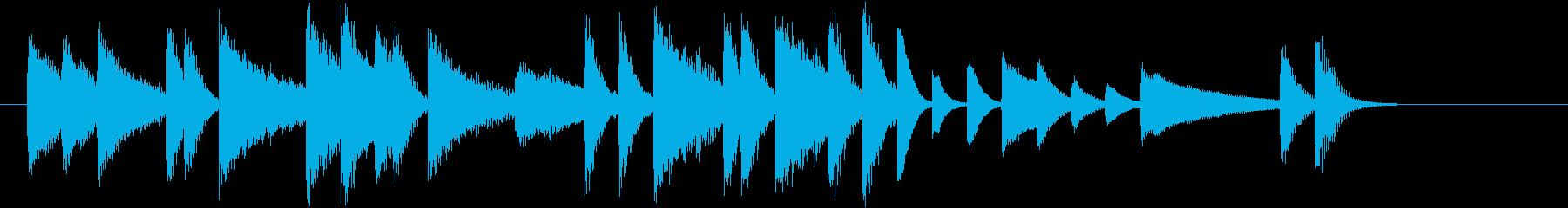 ジングルベルモチーフのピアノジングルCの再生済みの波形