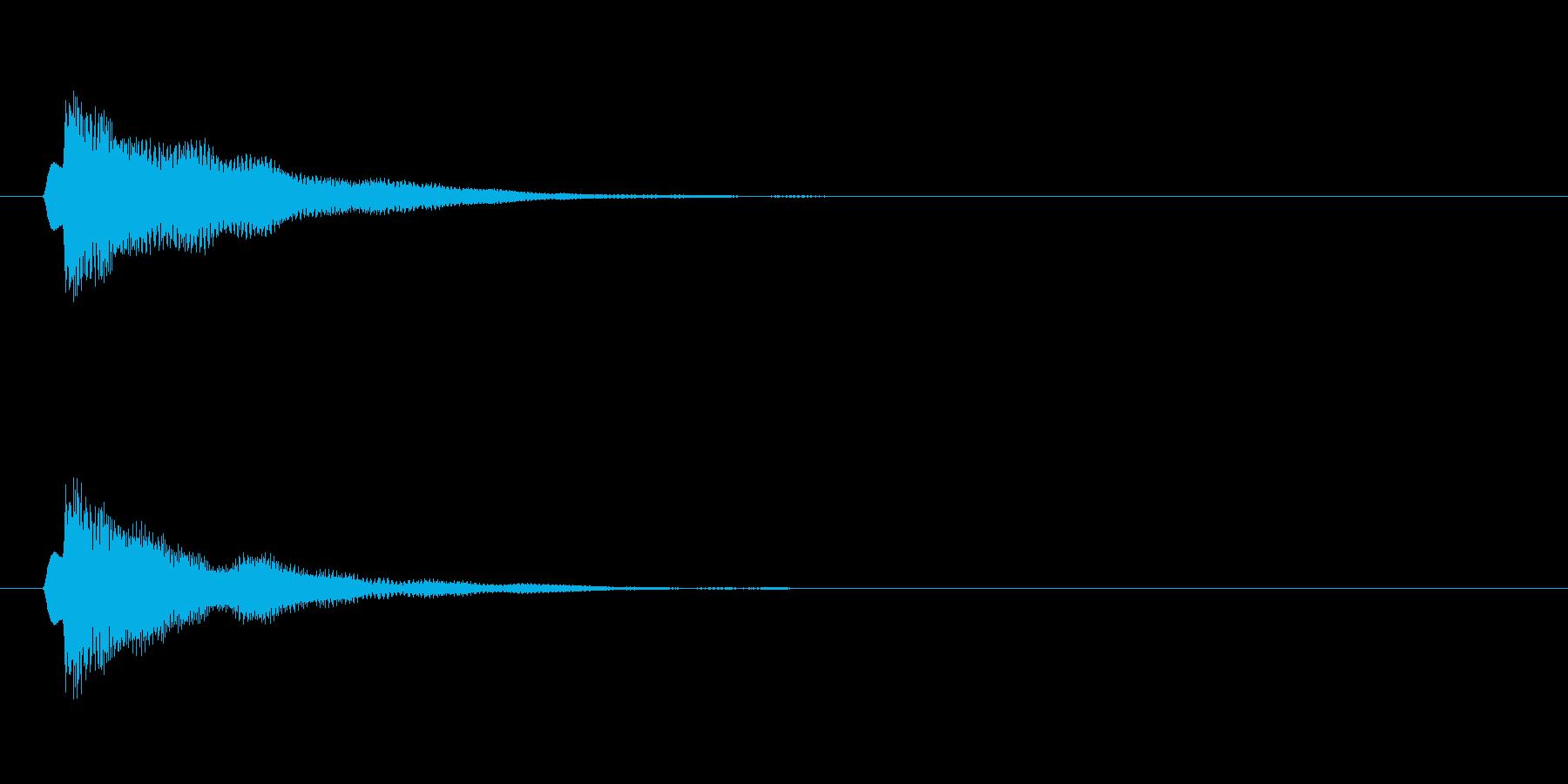 アプリ・ゲームの決定音_016の再生済みの波形