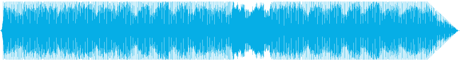 晴れた日のイメージの4つ打ちポップスの再生済みの波形