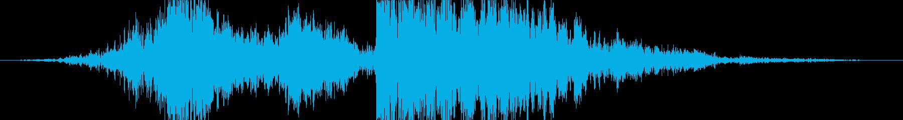 衝撃 空爆27の再生済みの波形