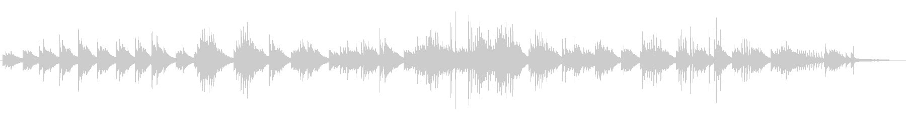 CM BGMに 静寂 癒しのピアノソロの未再生の波形