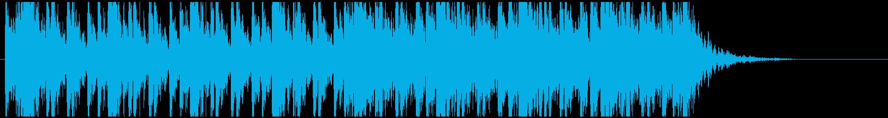 和太鼓のフレーズ3 残響ありBPM130の再生済みの波形