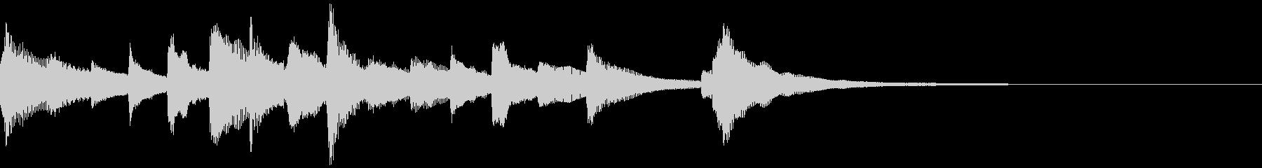 悲しくてきれいなピアノのジングル24の未再生の波形