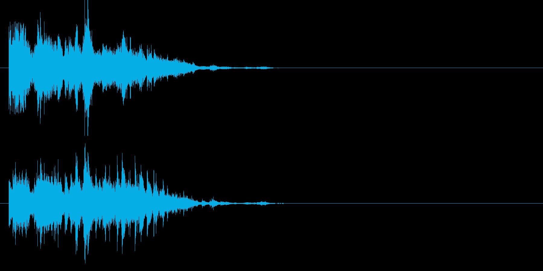 煌めくウィンドチャイムの再生済みの波形