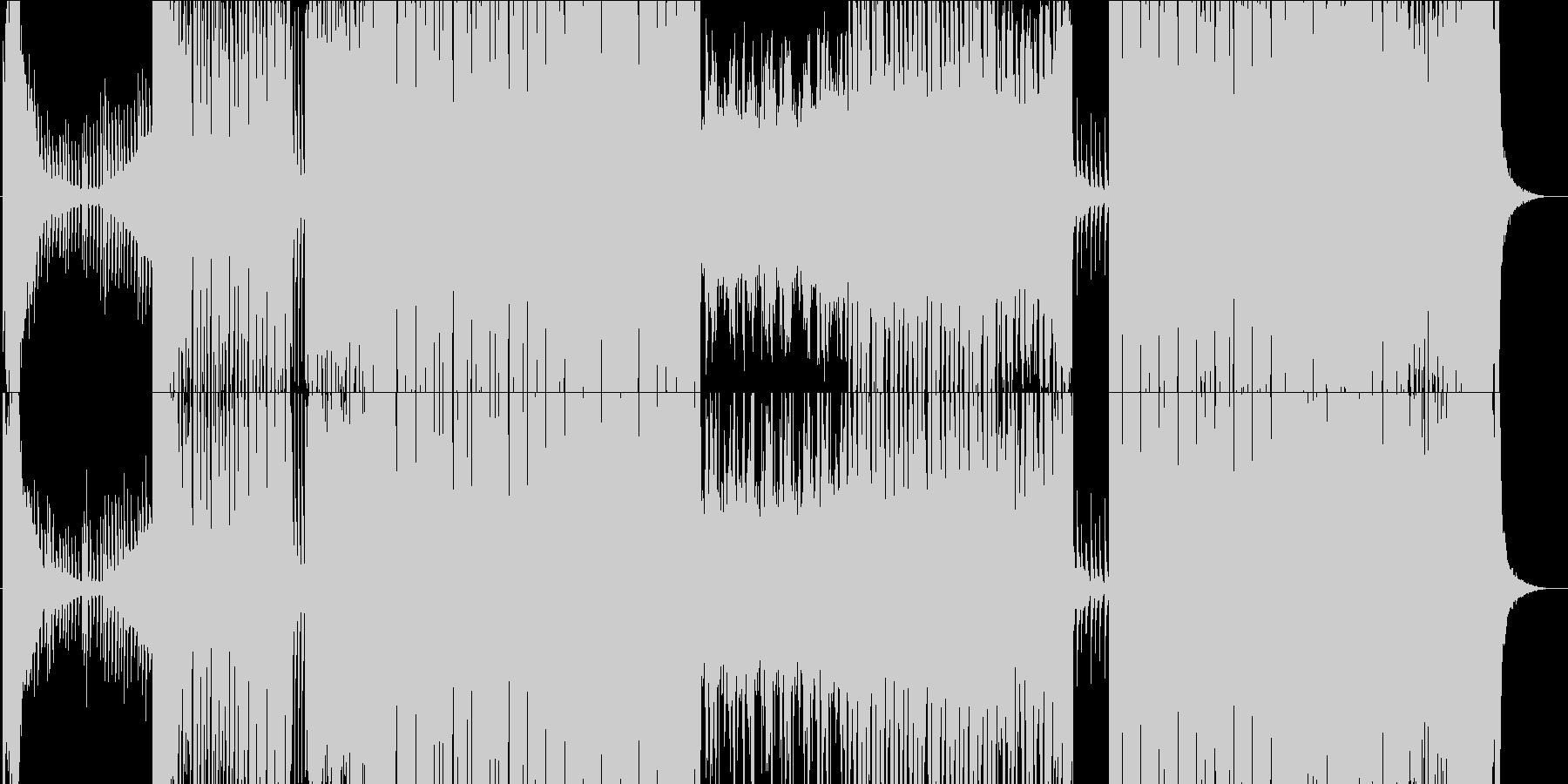 EDM系エネルギッシュなBGMの未再生の波形