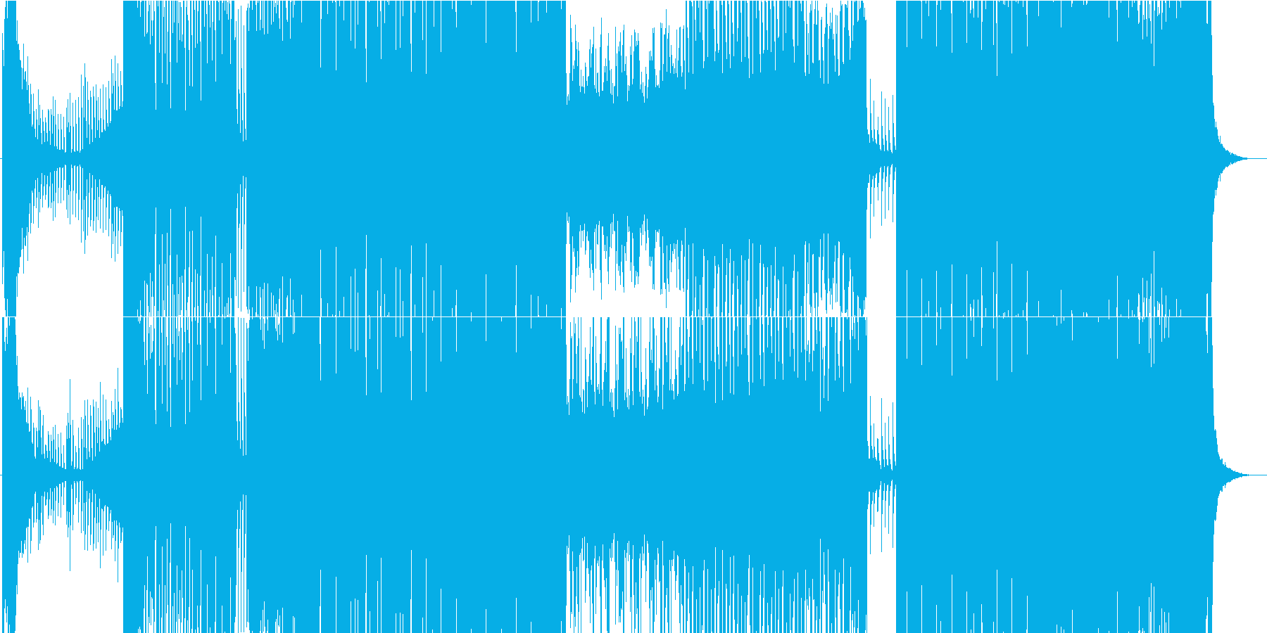 EDM系エネルギッシュなBGMの再生済みの波形