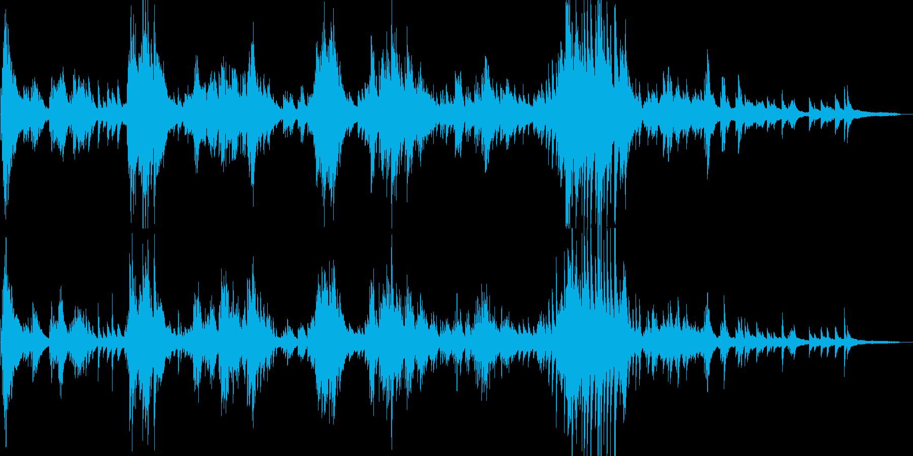 生演奏 独創的でクラシック風なピアノソロの再生済みの波形
