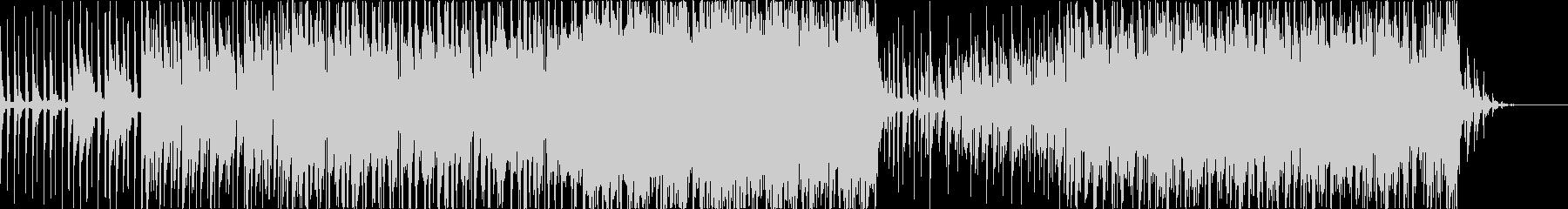 テクノ風ミドルロックの未再生の波形