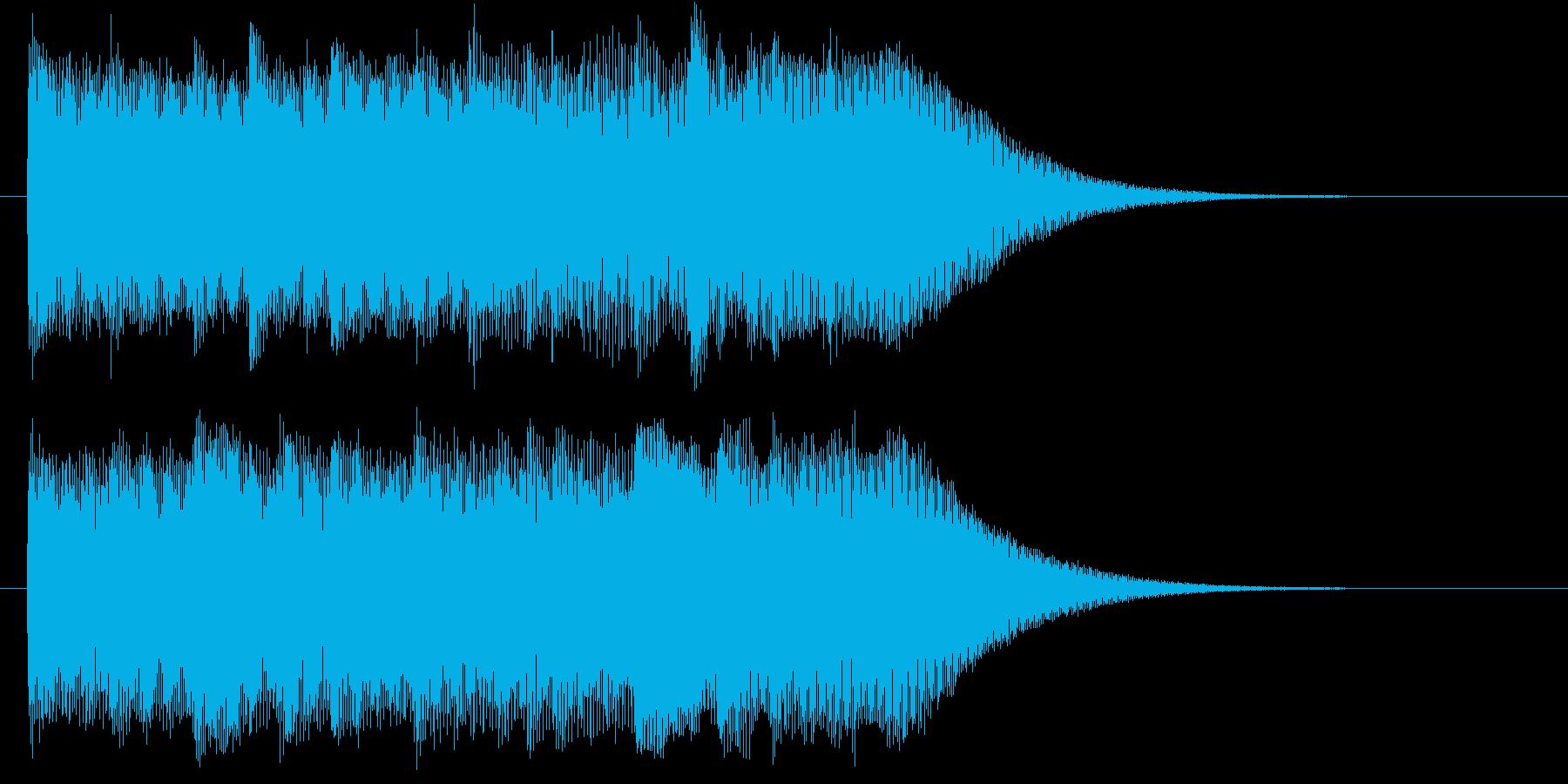 スタイリッシュな映像オープニングロゴの再生済みの波形