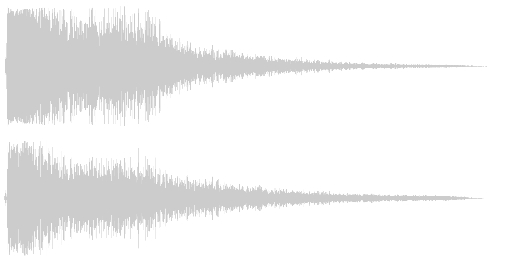 ッシャーン(シンバル音)の未再生の波形