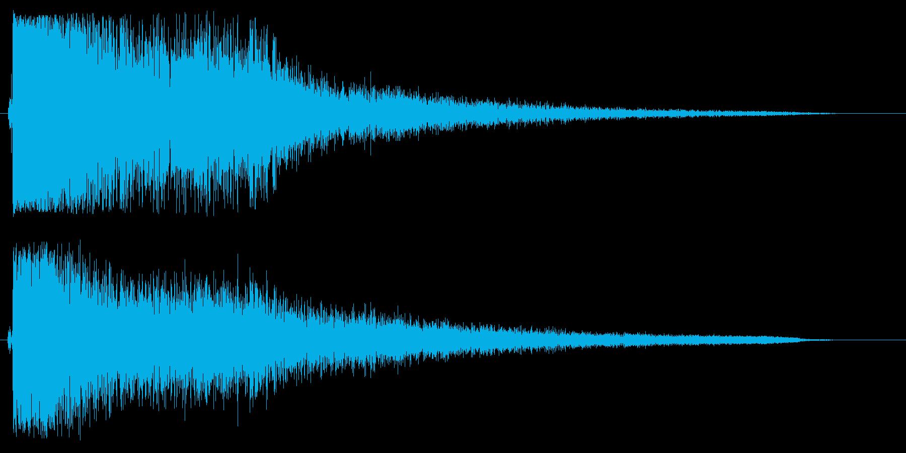 ッシャーン(シンバル音)の再生済みの波形