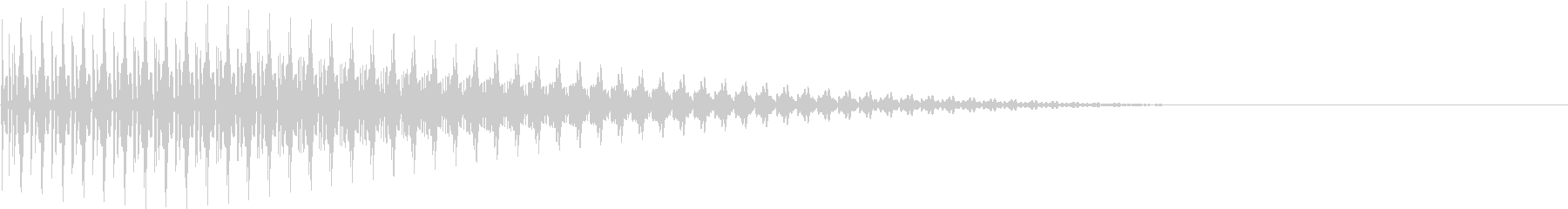 BOTAN テクノな決定ボタン 4の未再生の波形