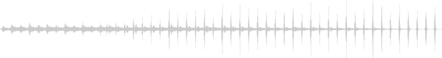 チクタク(懐中時計の音)胸騒ぎの未再生の波形