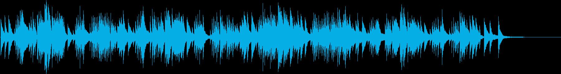 落ち着くクラシックをシンプルピアノでの再生済みの波形