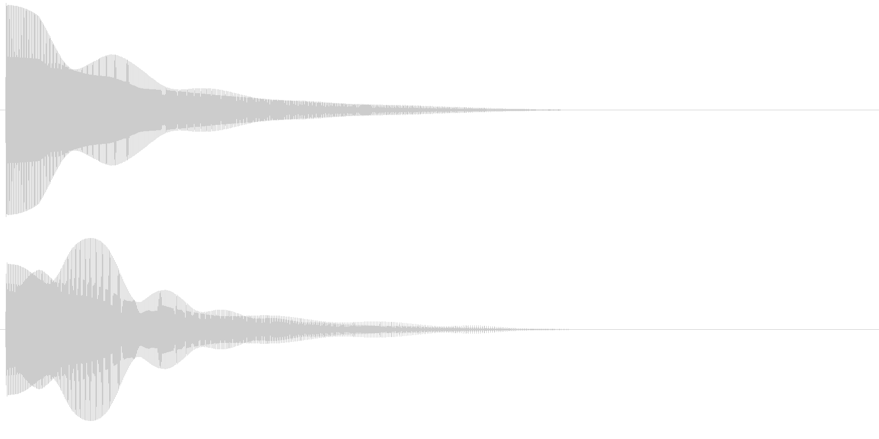プーーンの未再生の波形