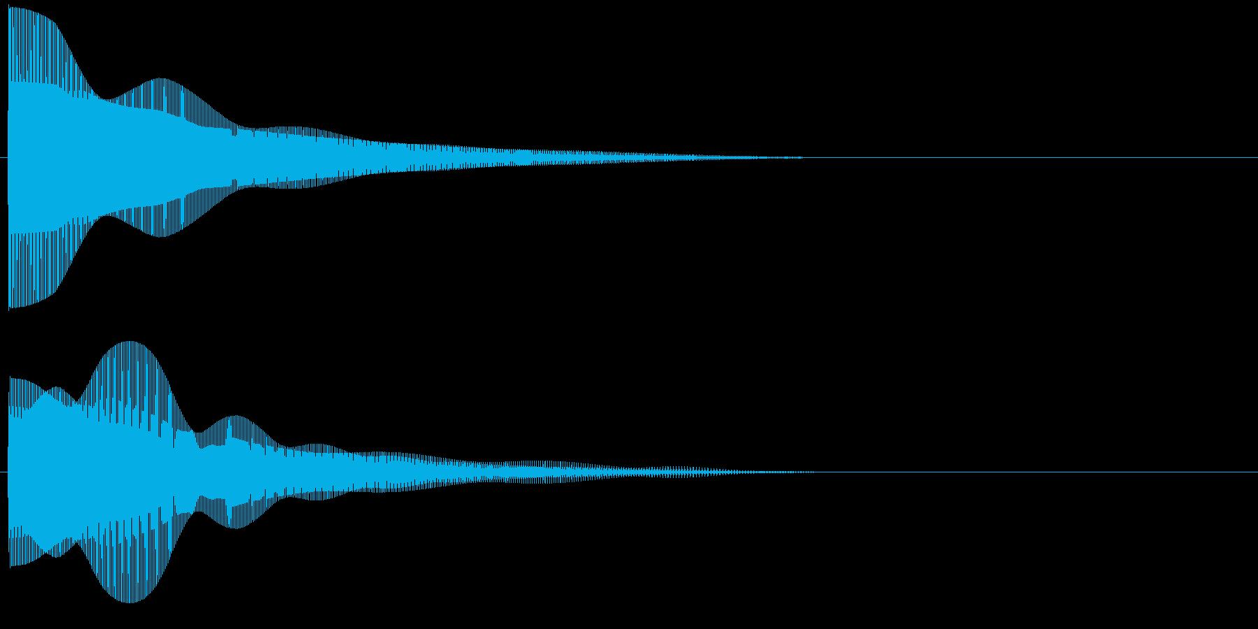 プーーンの再生済みの波形