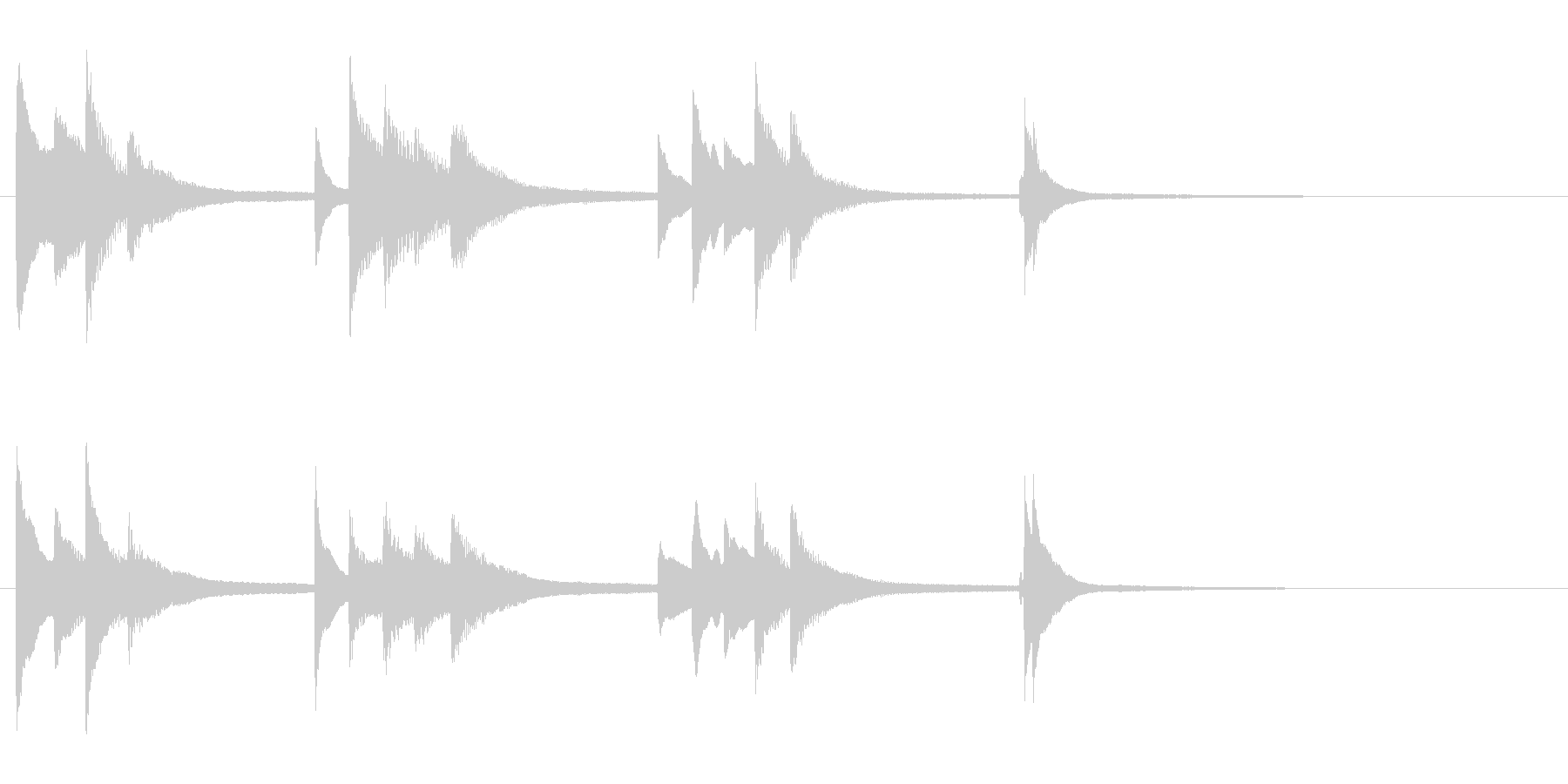 ピアノの旋律が美しいジングルの未再生の波形