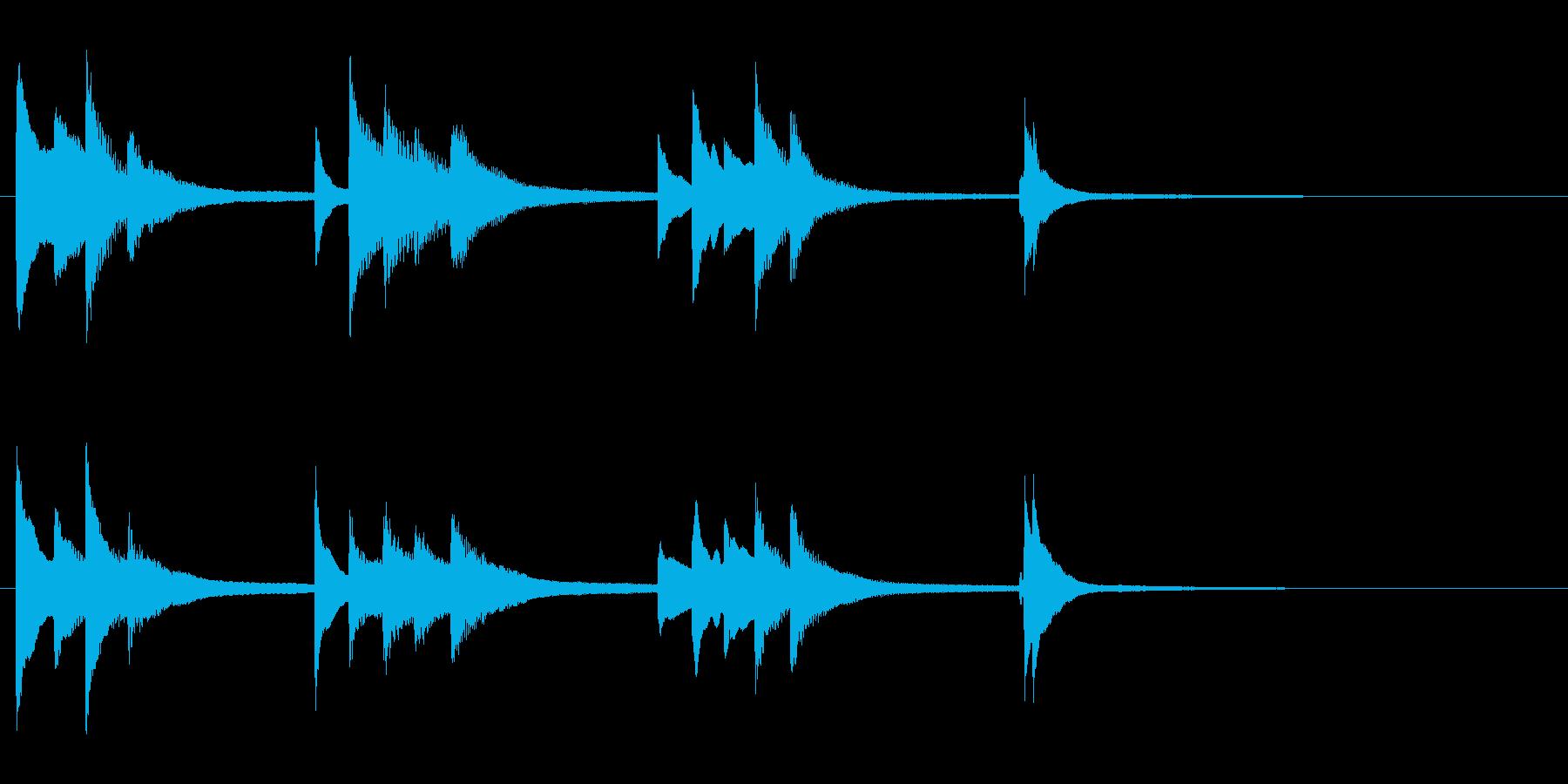 ピアノの旋律が美しいジングルの再生済みの波形