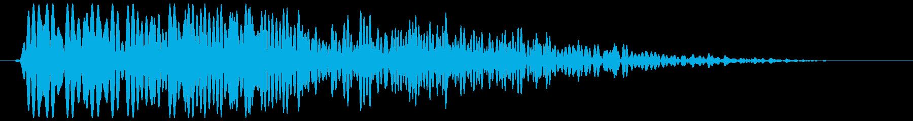 和音がやさしい短めの効果音の再生済みの波形