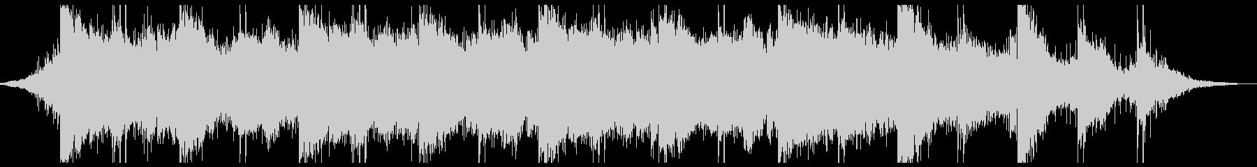 EBOWギターのスローテクノの未再生の波形