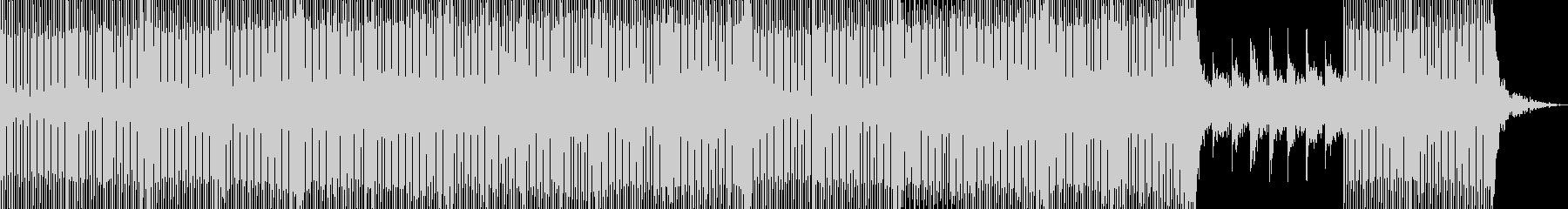 少しダークな感じのハウスの未再生の波形