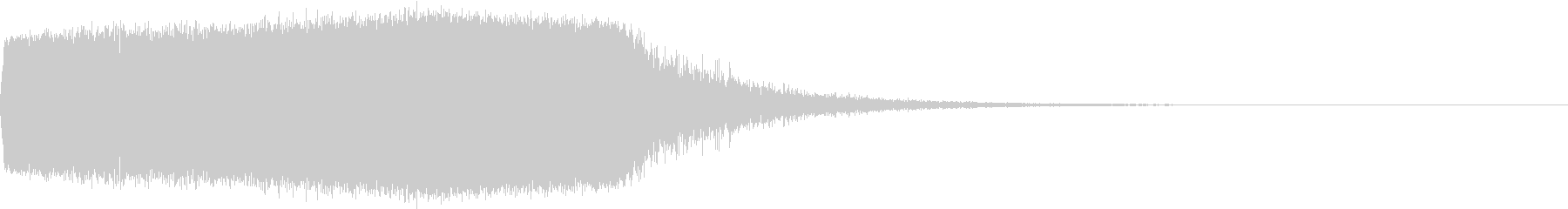 TVFX クイズ出題前 上昇 キュイーンの未再生の波形