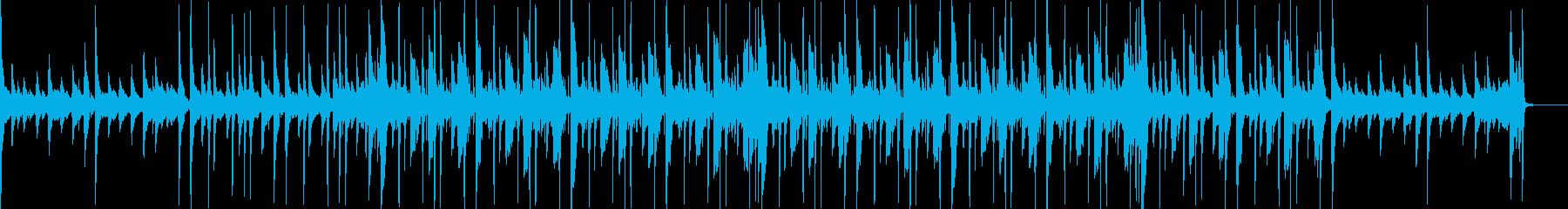 アコースティックギターが目立つヒーリングの再生済みの波形