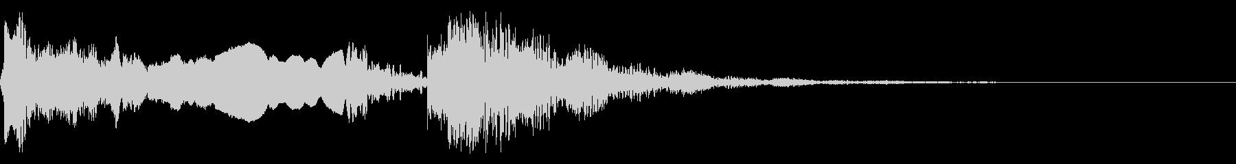 和風な歌舞伎の笛(能管)太鼓インパクト4の未再生の波形