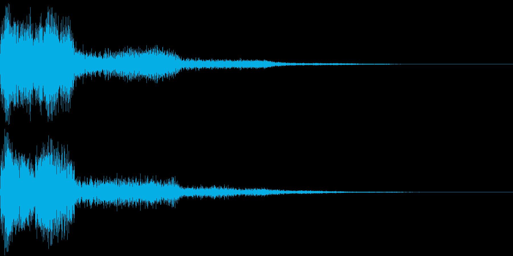 ピコン ピコ チャリン ピコーン の再生済みの波形