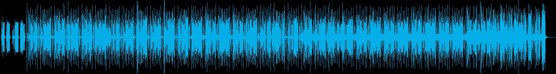 不思議系シンセサイザー木琴曲の再生済みの波形